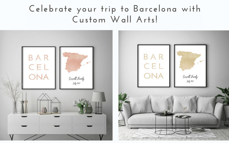 Barcelona Spain Custom Wall Art