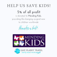 Luxe Wanderlust Shop, by Easy Planet Travel is donating 5% of all profit to help save kids worlwide