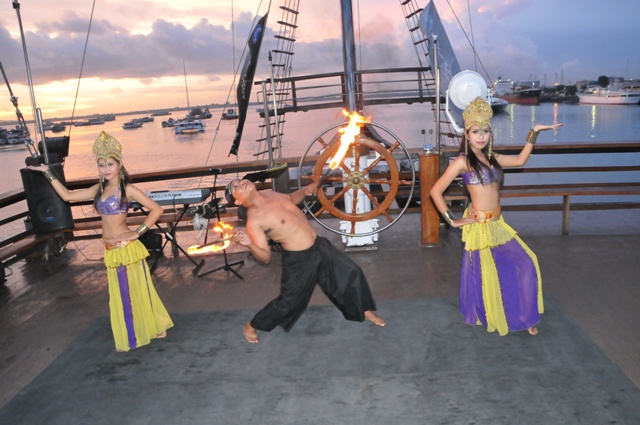 Bali with kids on a Pirate Party on a Cruise