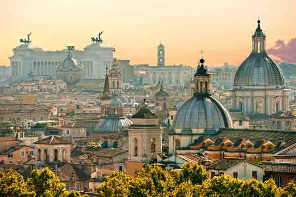 Italy_View of Rome from Castel Sant'Angelo