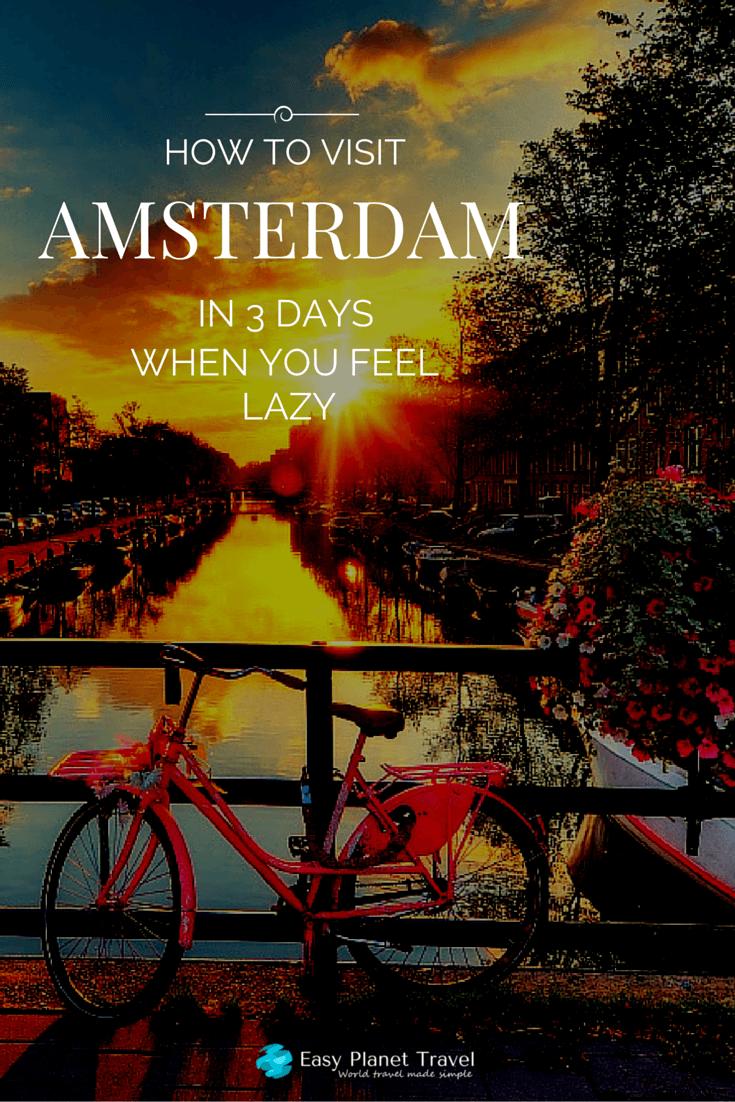 itinerary amsterdam