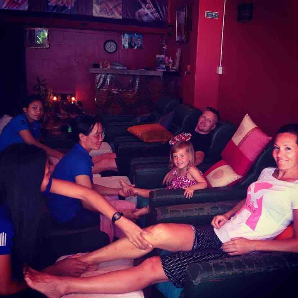 family foot massage