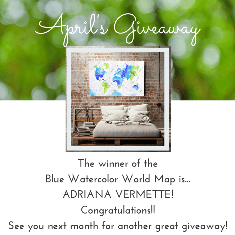 April's Giveaway Winner (1)