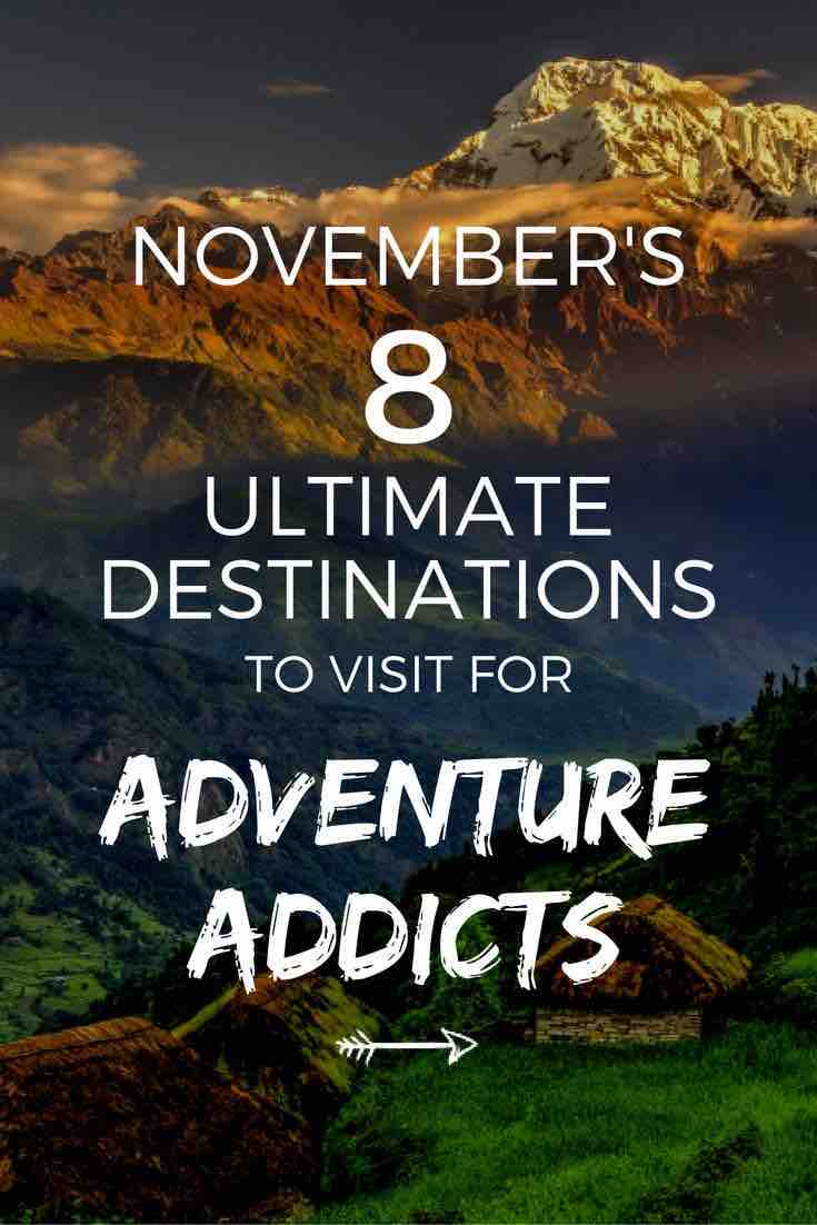 best adventure destination november