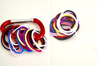How to pack a suitcase: hair elastics