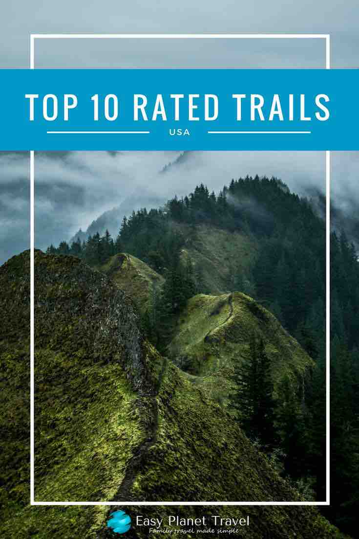 top 10 rated trails usa