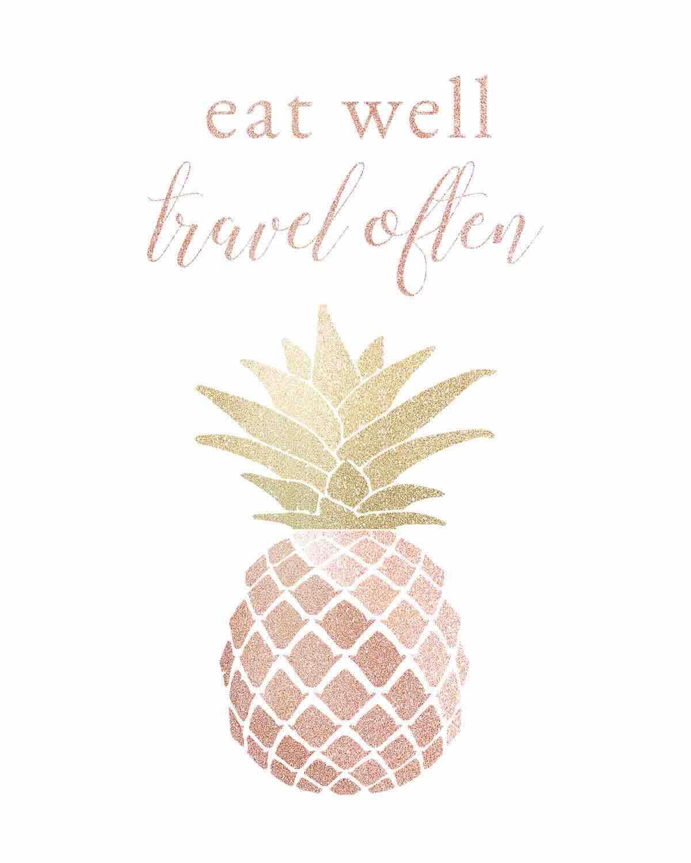 Eat Well Travel Often Blush Wall Art Printable Easy Planet Travel