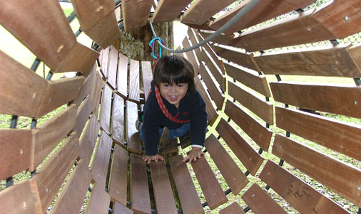 Bali with kids at the Bali Treetop Adventure Park
