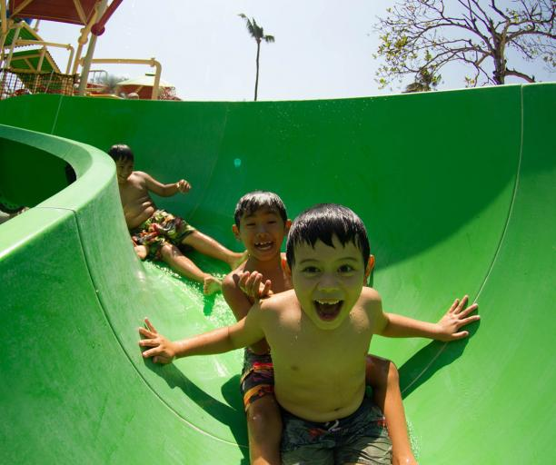 Bali with kids at Waterbom Water Park