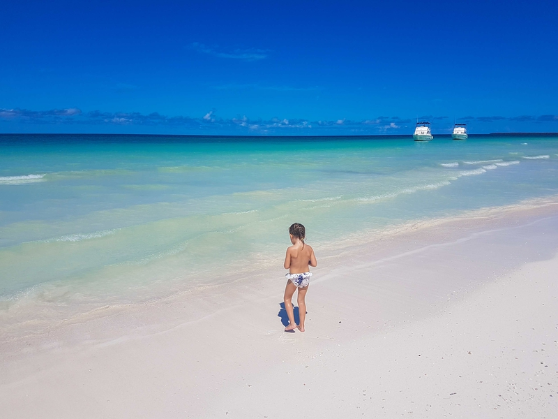 A little adventuress in Cayo Blanco, Varadero