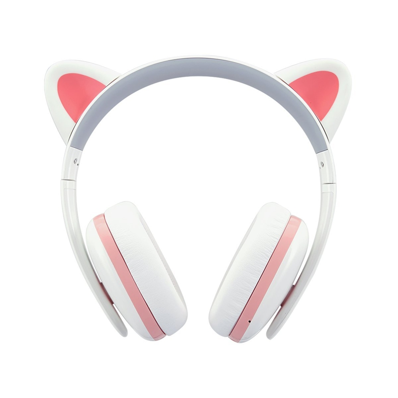 Best travel gift ideas for cat crazy friend: Cat Noise Canceling Wireless Bluetooth Headphones with Mic