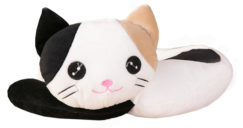 Top 10 travel gift ideas: Cat U-Shaped Plush Travel Pillow