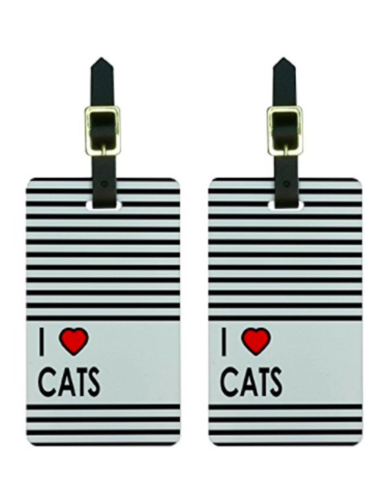 10 best travel gift ideas: I love cats luggage tags