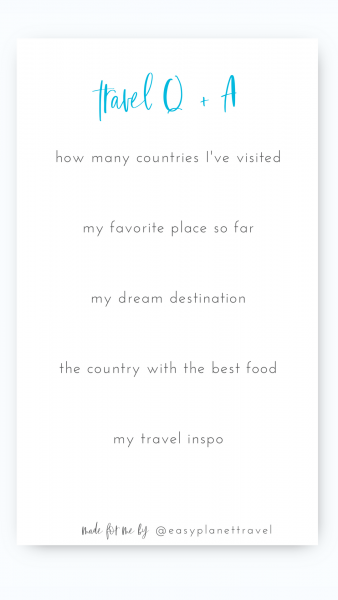 Travel Instagram Template Q and A