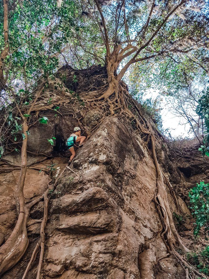 Rock climbing at Los Elementos Adventure Center
