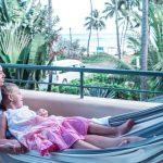 Relaxation in a hammock, Hotel Alisei