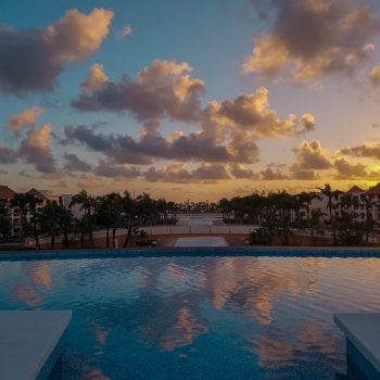 Sunrise at the ultimate family resort in Punta Cana