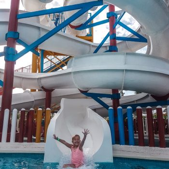 Waterslide fun at the ultimate family resort in Punta Cana