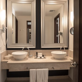 Spacious bathroom at the Hard Rock Hotel Punta Cana