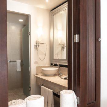 Spacious bathroom at the Hard Rock Hotel Punta Cana