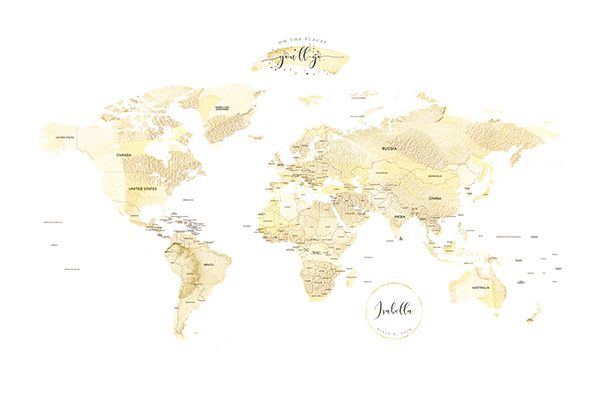 Personalized Detailed World Map