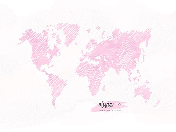 Personalized Sketch World Map