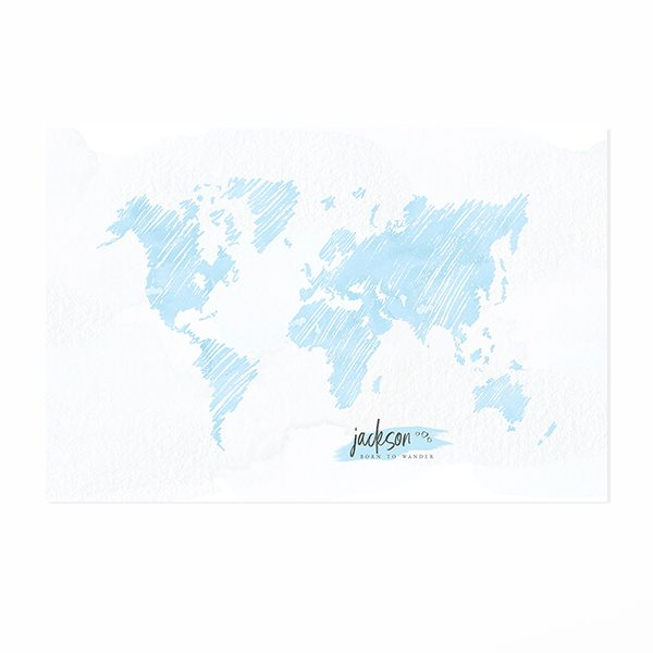 Personalized Sketch World Map Print
