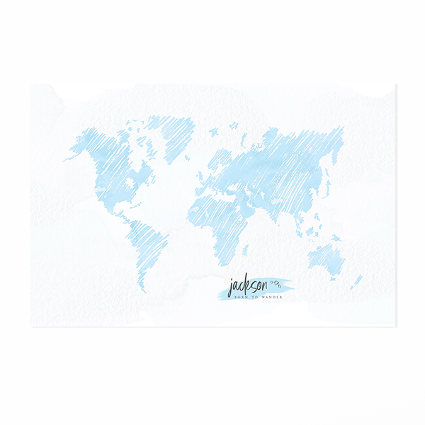 Personalized sketch world map print easy planet travel personalized sketch world map print gumiabroncs Choice Image