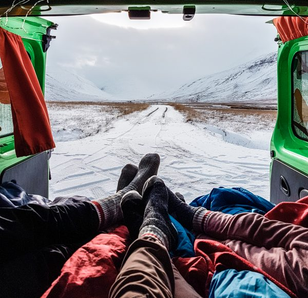 Family van life in Iceland