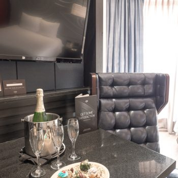 Champagne and treats at the Hard Rock Hotel Riviera Maya