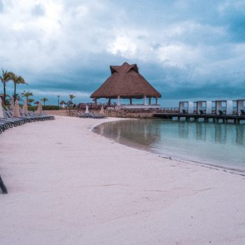 White sand beach at the Hard Rock Hotel Riviera Maya