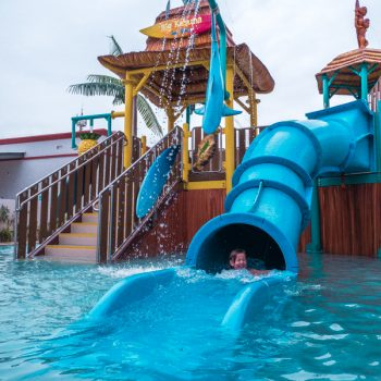 Fun water slide at the Hard Rock Hotel Riviera Maya
