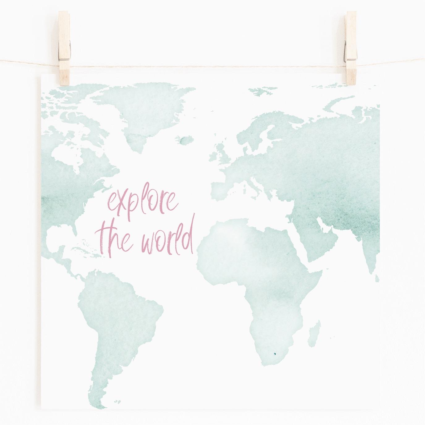 Explore the World Printable