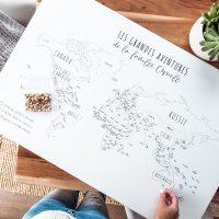 DIY décor voyage : comment fabriquer une carte du monde pour épingler à partir de votre toile personnalisée