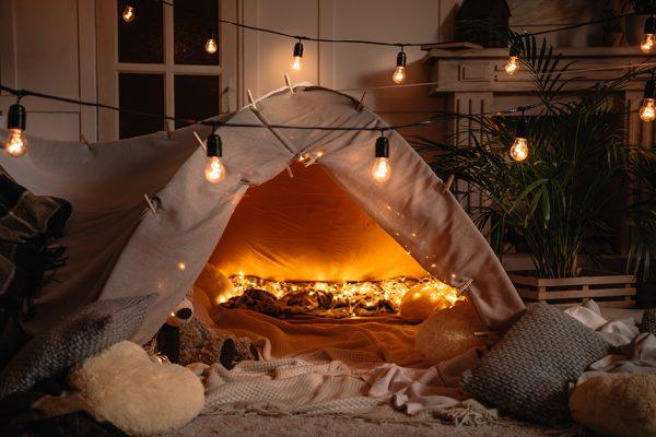 activités en famille camping de salon