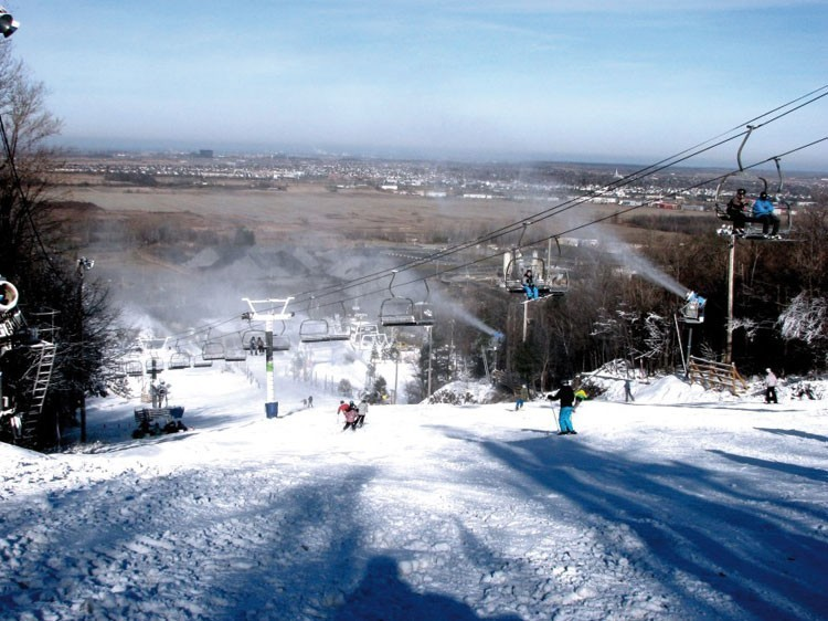 ski alpin dans la région de Montréal