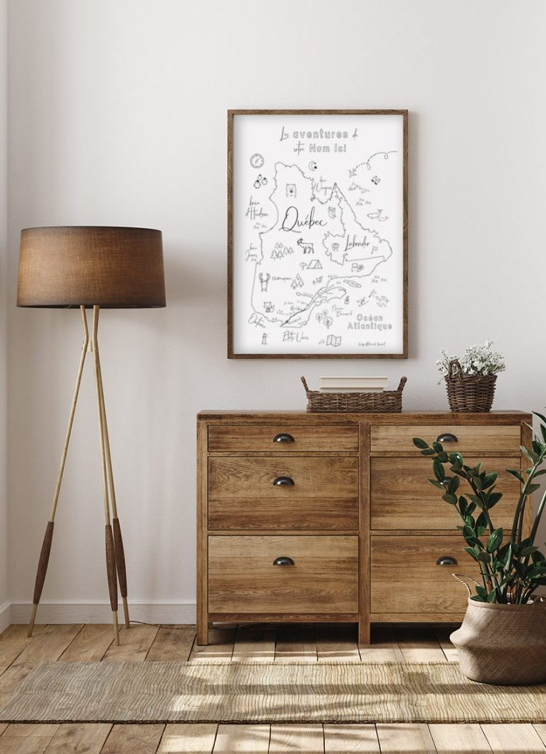 A lot of map are available in multiple formats, such as canvas, posters, on wood, and even as printables!