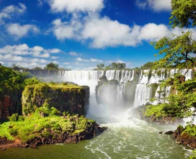 Explore the largest series of waterfall in the world, Iguassu Falls, Argentina
