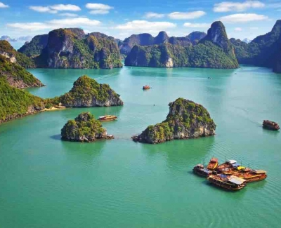 Cruise your way through Halong's Bay islands and floating villages, Vietnam