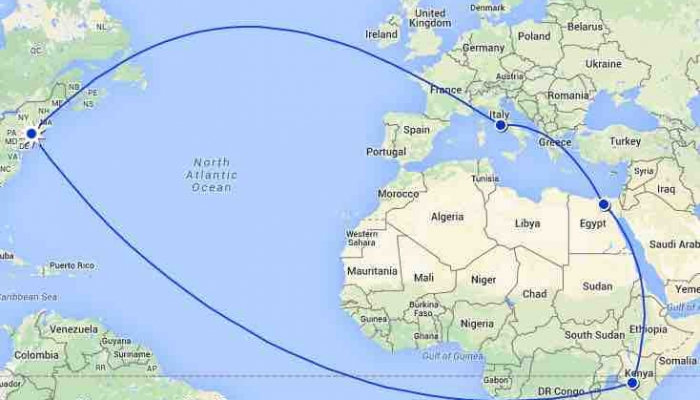 rtw around the world time crunch itinerary
